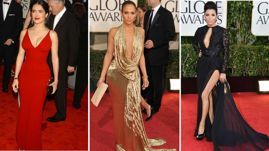 Collage latinas sexis en los Golden Globes