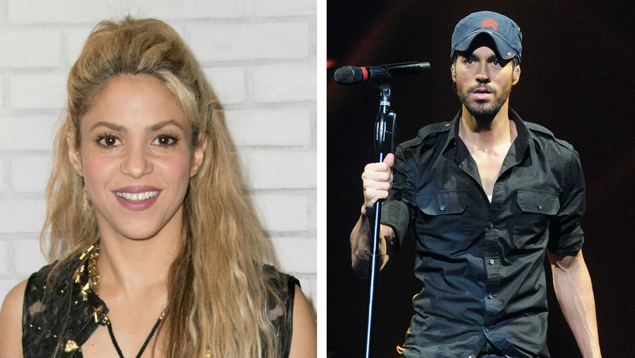 Collage Shakira y Enrique Iglesias