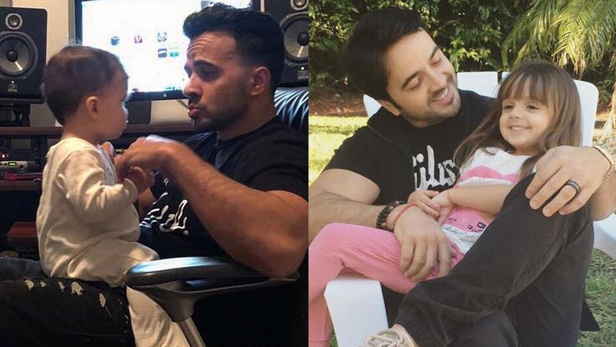 Luis Fonsi con sus hijos