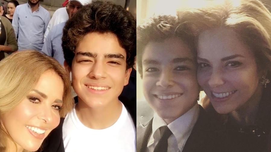 Gloria Trevi con su hijo Ángel Gabriel