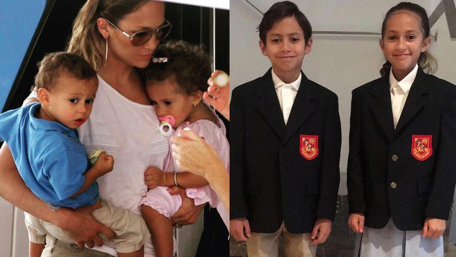 Jennifer Lopez con sus hijos Max y Emme