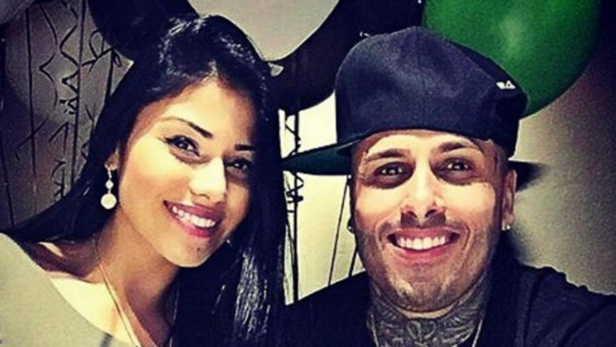 Angélica Cruz con Nicky Jam
