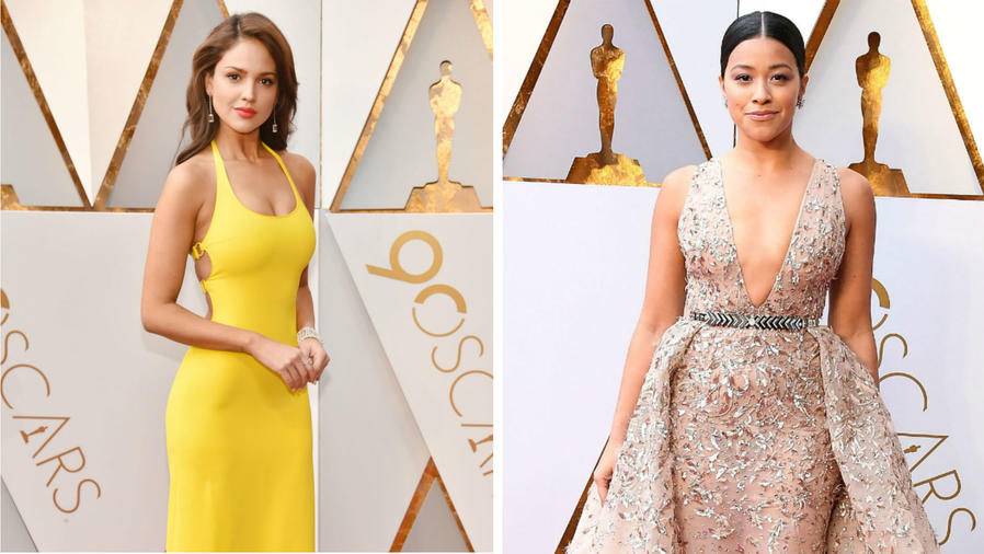 Collage latinas en los Oscars 2018