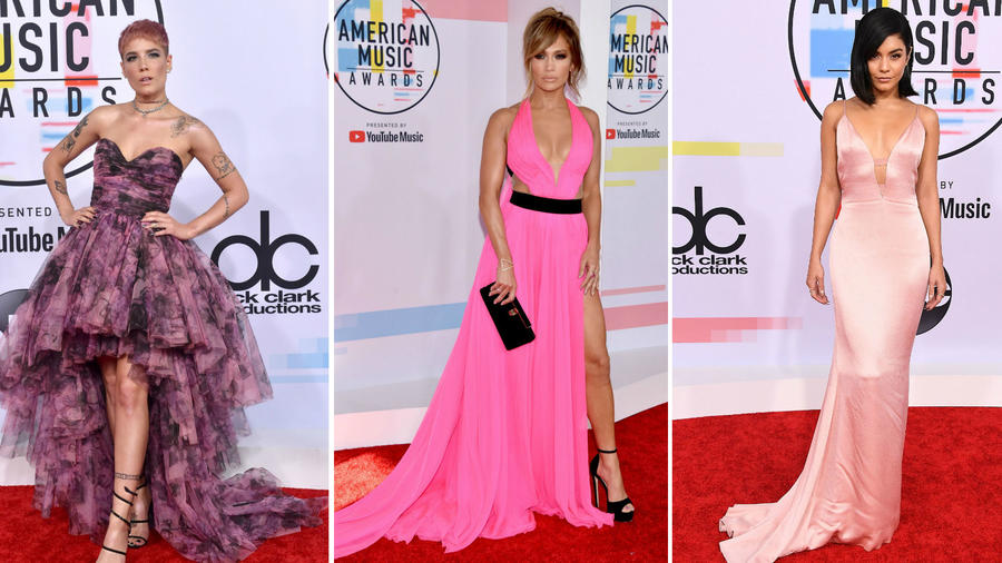 Jennifer Lopez, Halsey y Vanessa Hudgens en los AMAS 2018