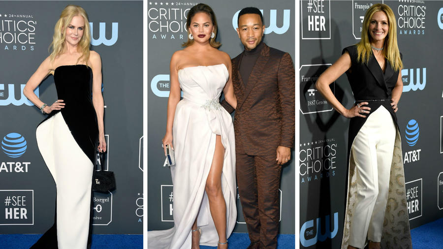 Nicole Kidman, Chrissy Teigen, John Legend y Julia Roberts en los Critics Choice Awards 2019