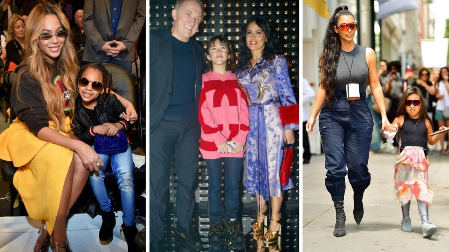 Beyoncé, Salma Hayek y Kim Kardashian con sus hijas