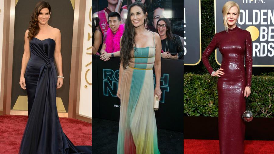Sandra Bullock, Demi Moore y Nicole Kidman en alfombras rojas