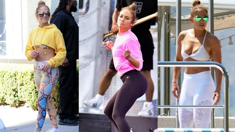 Jennifer Lopez en leggings