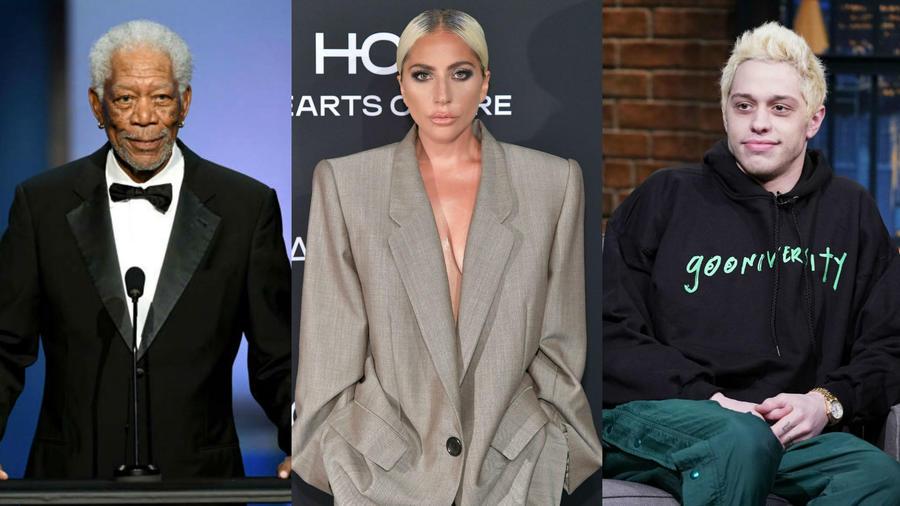 Morgan Freeman, Lady Gaga y Pete Davidson
