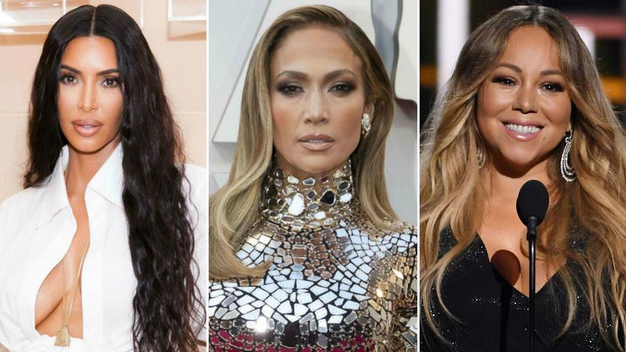 Kim Kardashian, JLo y Mariah Carey