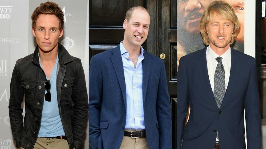 Eddie Redmayne, Príncipe William, Owen Wilson
