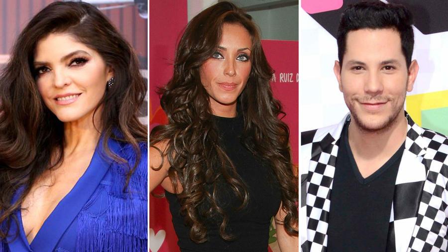 Ana Bárbara, Anahí y Christian Chávez