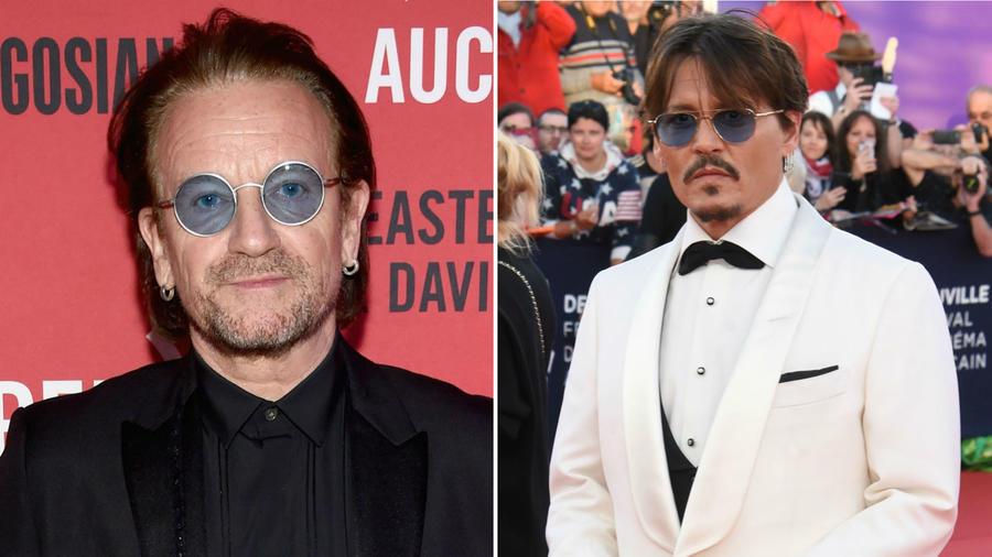 Bono y Johnny Depp