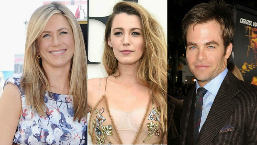 Jennifer Aniston, Blake Lively, Chris Pine