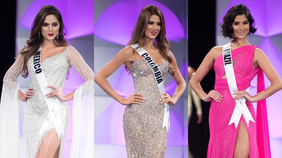 Miss México, Miss Colombia, Miss Brasil en la gala preliminar