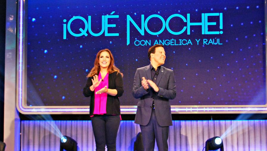 Angelica y Raul en QUE NOCHE