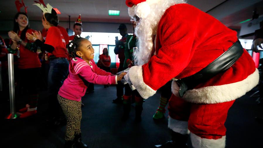 En New York, Santa Claus engorda con sazón dominicano