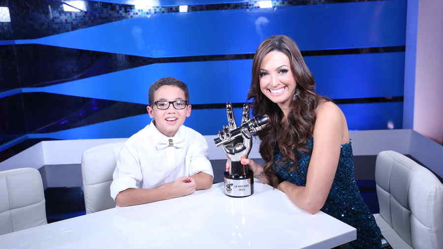 Jonael Santiago, ganador, la voz kids, reportera digital