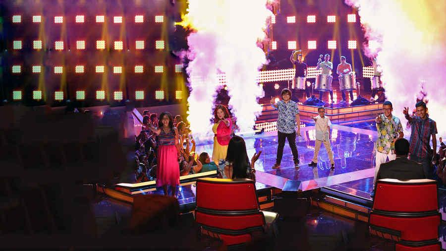 seis finalistas, cantando, final, la voz kids
