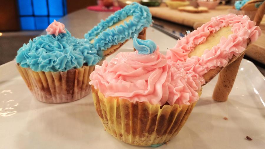 cupcakes de tacones
