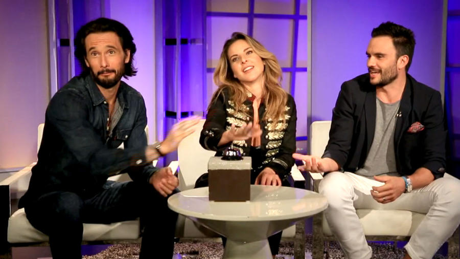 """Kate del Castillo, Rodrigo Santoro y Pablo Raba de la película """"33"""""""