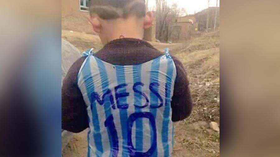 niño de iraq camiseta messi
