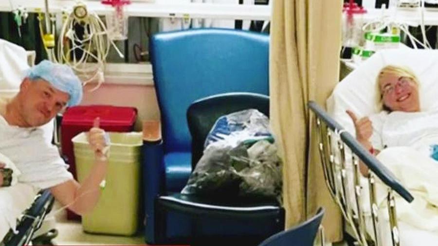 paciente con su donante de higado