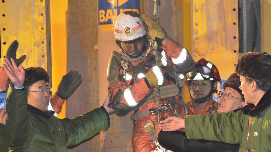 mineros chinos rescatados