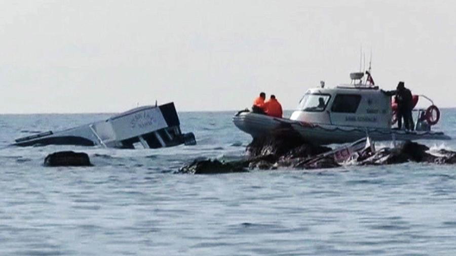 naufragio en turquia