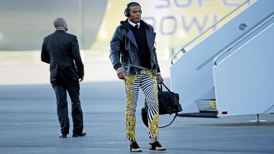 cam newton y sus pantalones