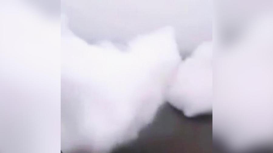 nubes caen del cielo