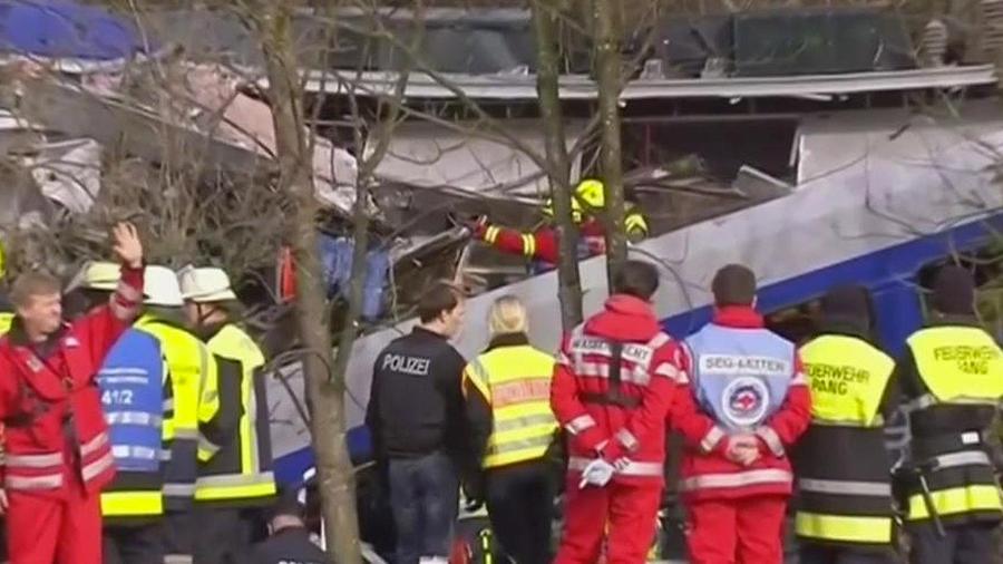 chocan trenes en alemania
