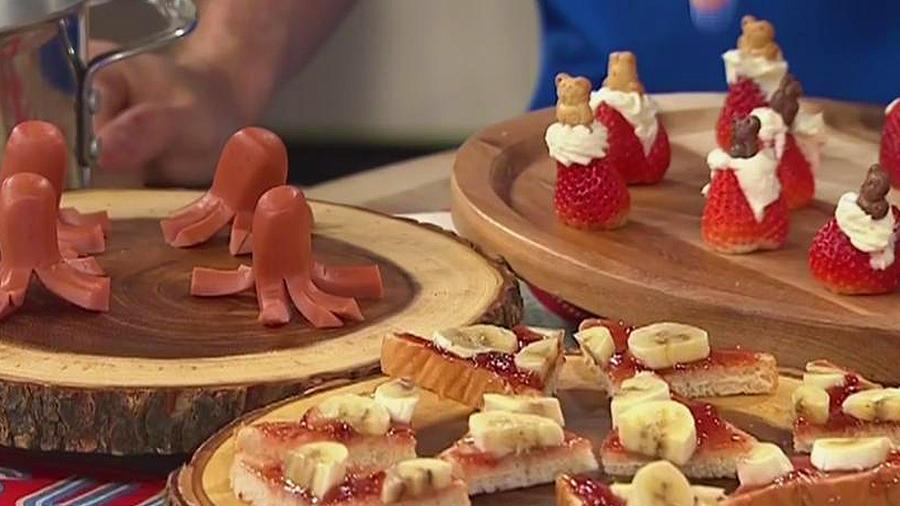 Receta de cocina: fresas con ositos y crema