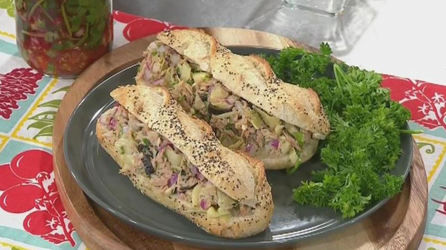 Recetas de cocina: Sándwich de Atún y Alcachofas