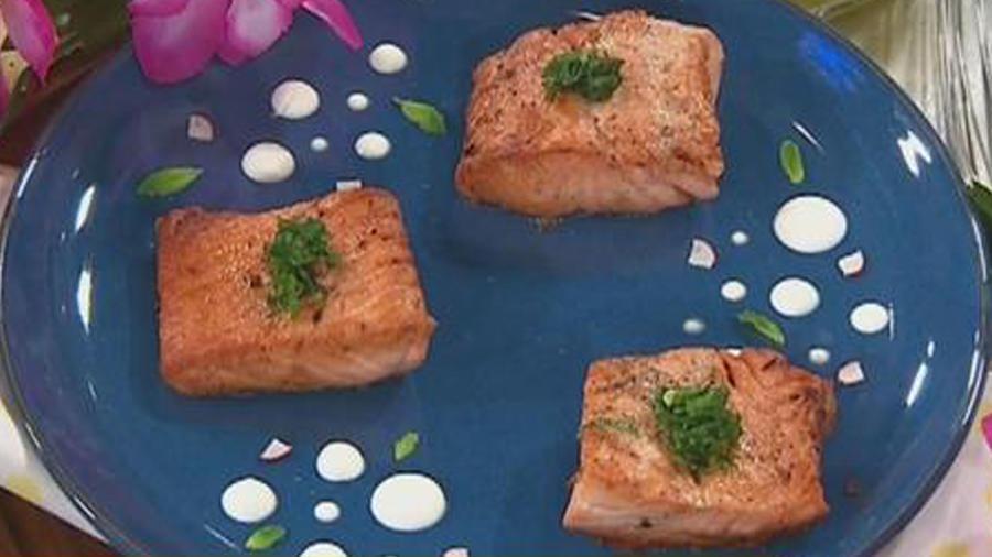 Recetas de cocina: Salmón con Salsa de Naranja y Miel