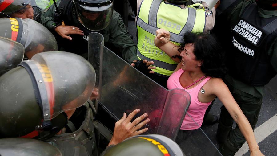 marcha opositora en venezuela