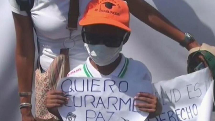 La falta de medicamentos mata un niño en Venezuela
