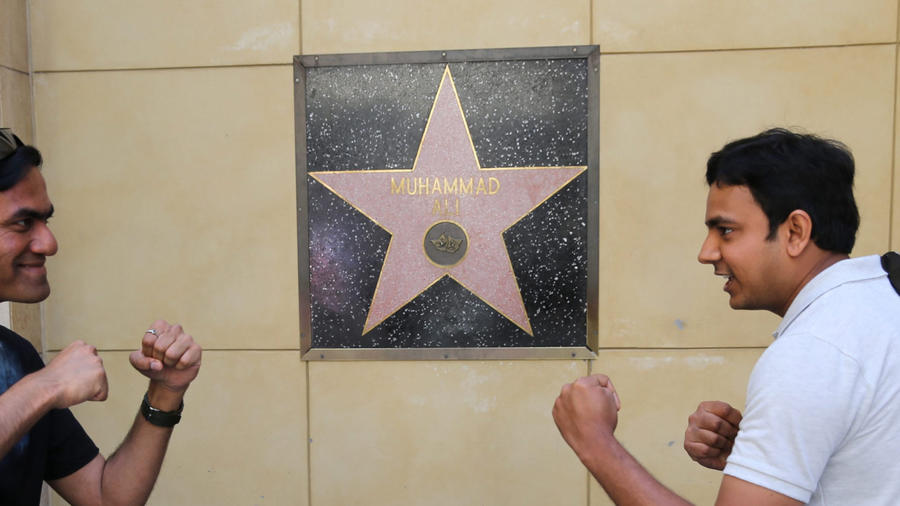 estrella fama de ali en pared