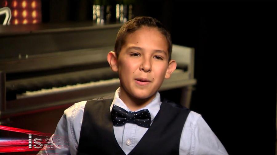 Isaac en entrevista de la segunda gala de La Voz Kids