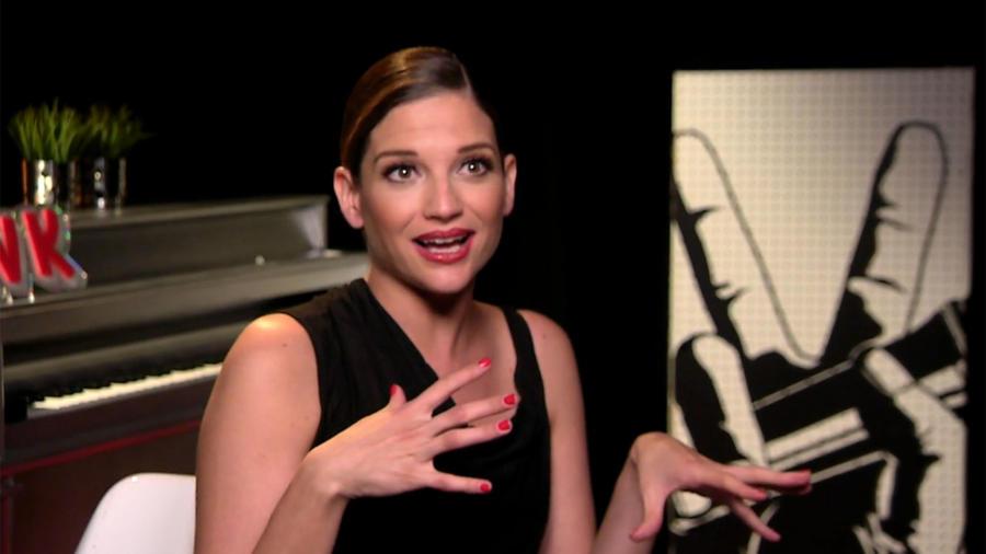 Natalia Jiménez en entrevista en la semifinal de La Voz Kids