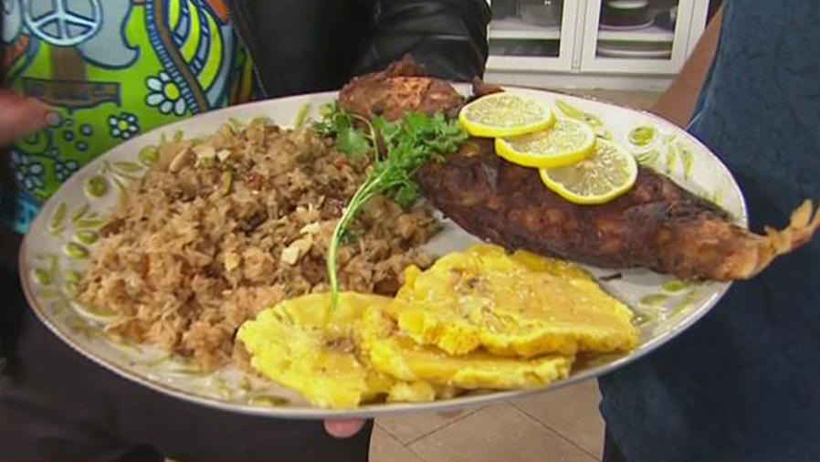 Recetas de cocina: Arroz con Coco y Pescado Frito