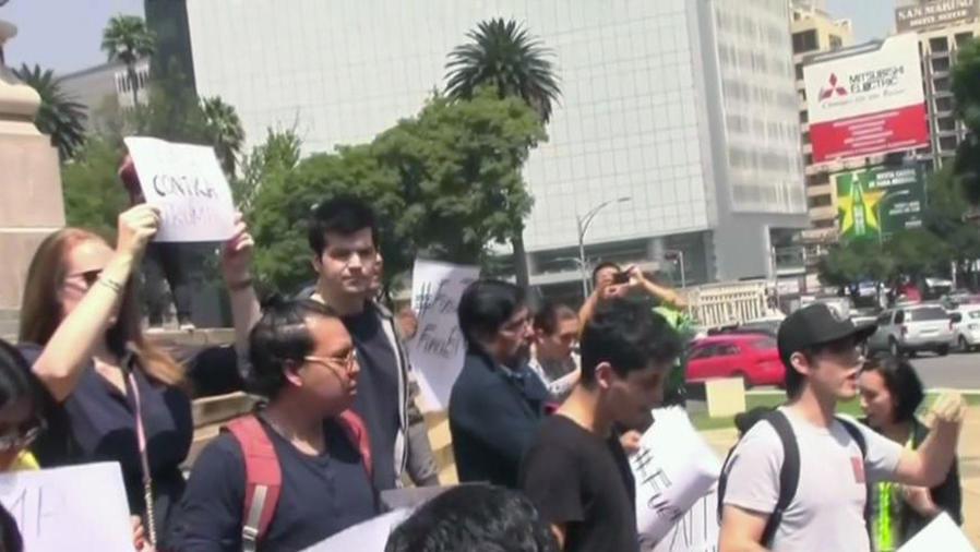 Mexicanos molestos por visita de Trump a su país