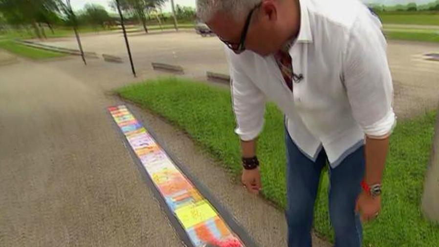 ¡Un pintor inspirado hizo un cuadro de 182 metros!