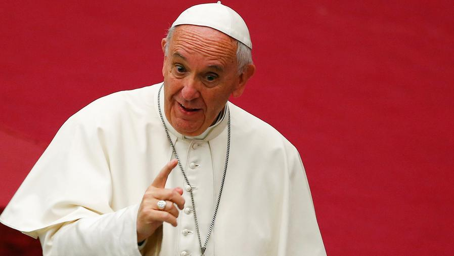 Papa recibe a presidente