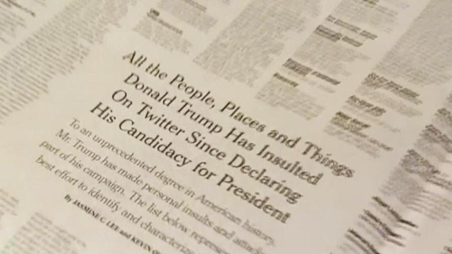 lista de insultos de trump