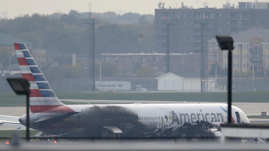 Incendio de avión en Chicago