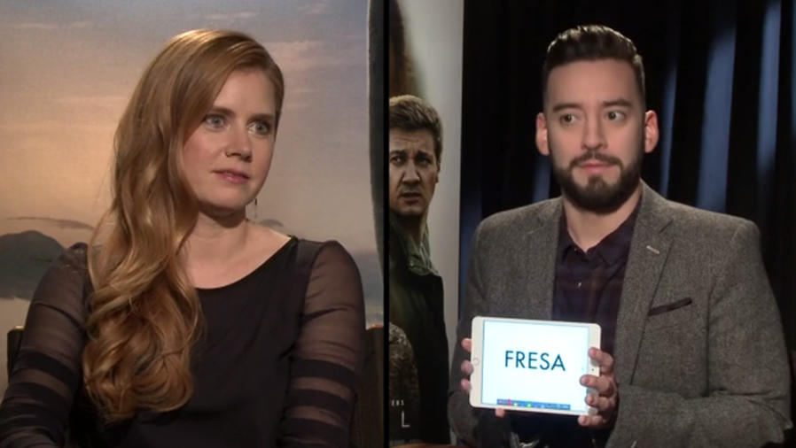 Amy Adams tries to guess the meaning of Spanish slang words