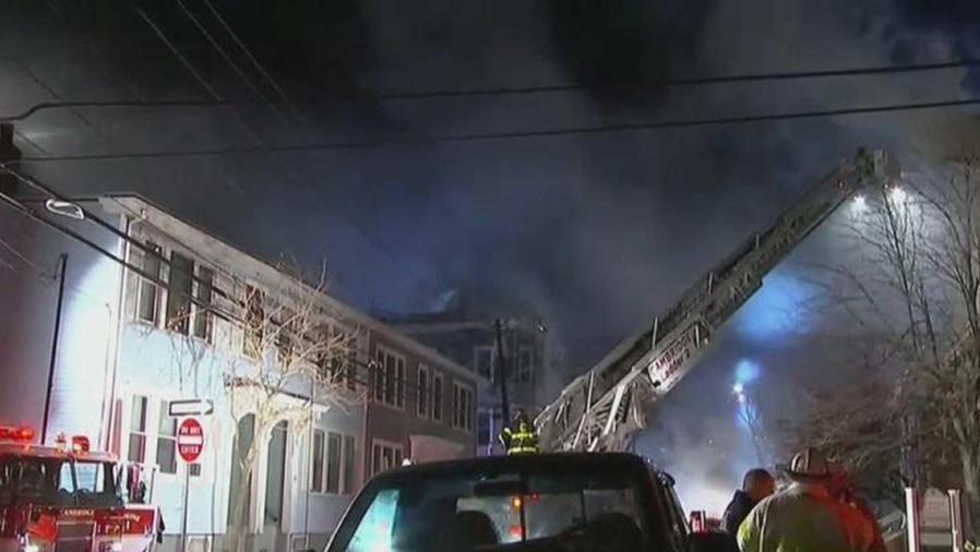 Fuego en Boston
