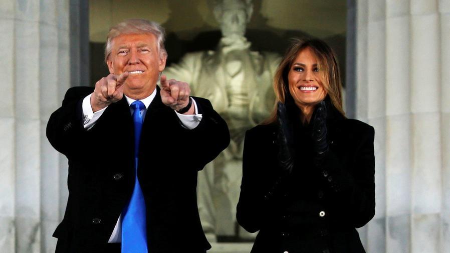 Donald Trump asiste a concierto inaugural