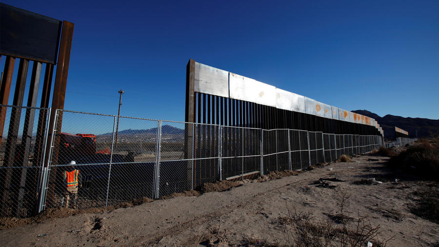 Parte del muro fronterizo entre EEUU y México